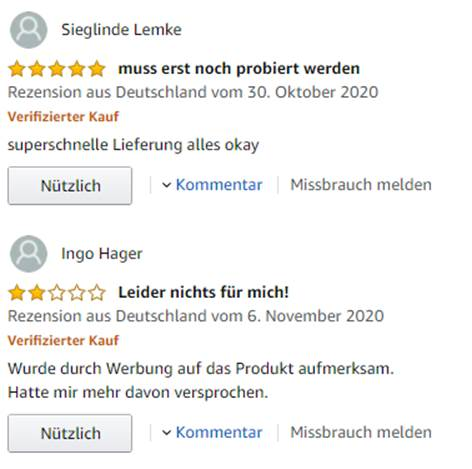 amazon kundenrezensionen